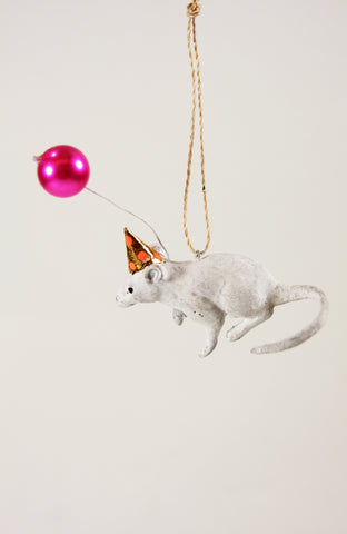 HOLIDAY PARTY MOUSE ORNAMENT