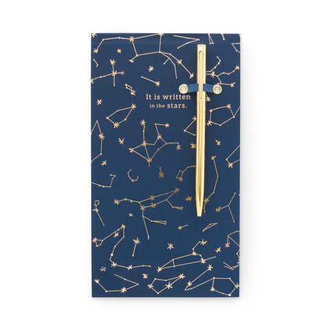 Chunky Journal with Pen | Navy Constellations