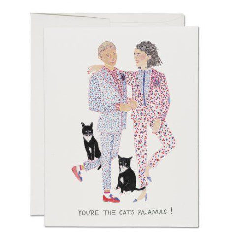 """Cat's Pajamas"" Card Greeting Cards - Thorn and Burrow"