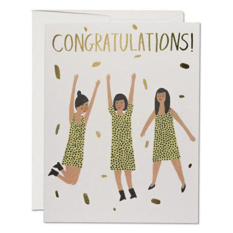 """ Three Women Congrats "" Card Greeting Cards - Thorn and Burrow"