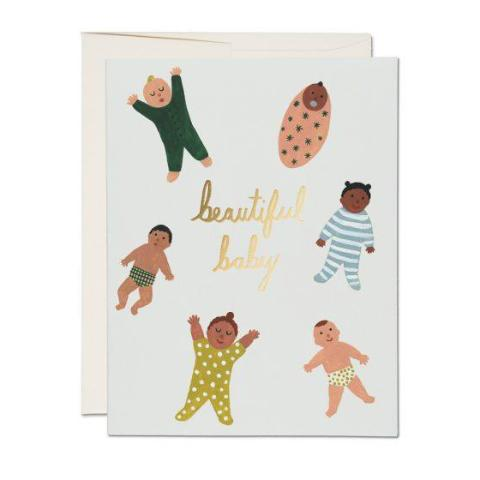 """  Beautiful Baby "" Card Greeting Cards - Thorn and Burrow"