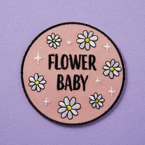 Flower Baby Embroidered Iron On Patch