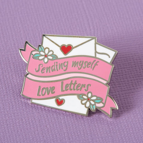 Sending Myself Love Letters Enamel Pin