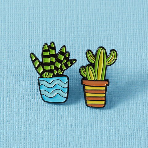 Cactus Duo Enamel Pin Set