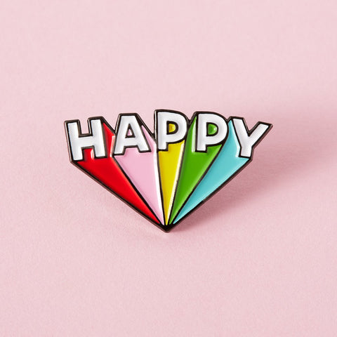 Happy Soft Enamel Pin