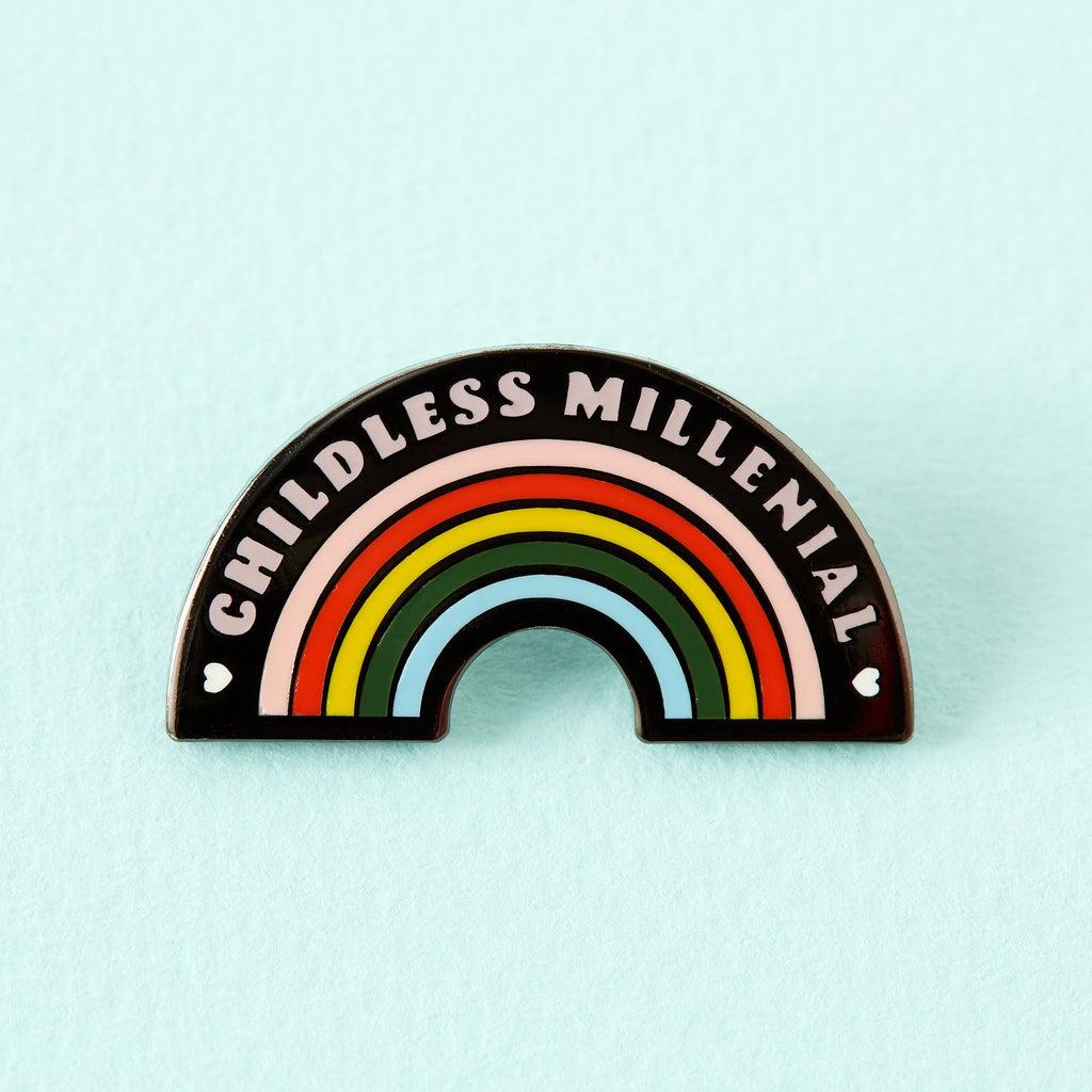 Childless Millennial Enamel Pin