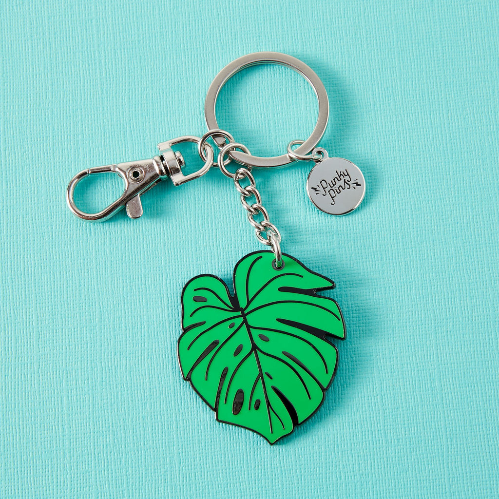 Monstera Leaf Enamel Keyring