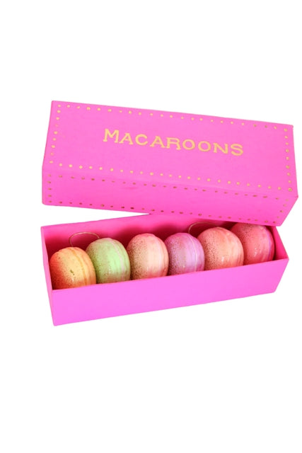 MACAROON ORNAMENT with box 6 asst
