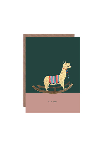 """ Rocking Alpaca "" Card"