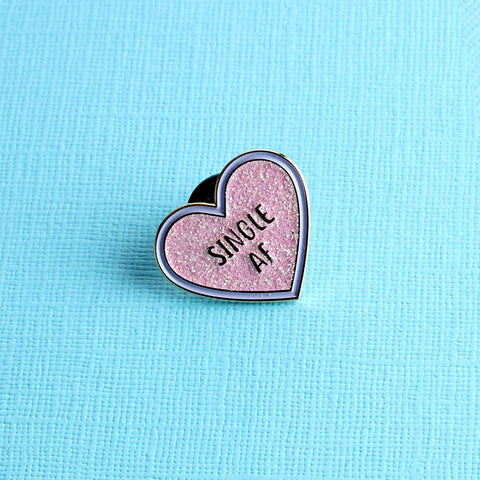 Single AF Enamel Pin