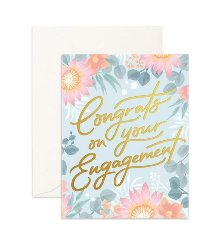 """Congrats Engagement"" Greeting Card"