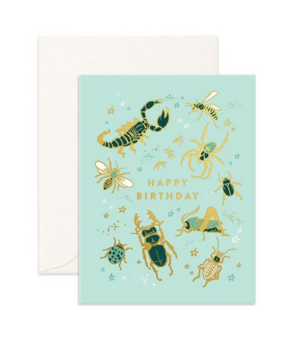 """Happy Birthday Bugs"" Greeting Card"