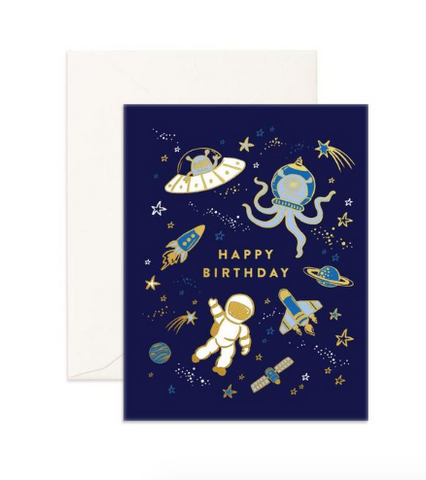 """Happy Birthday Space"" Greeting Card"