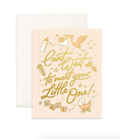 """Meet Little One"" Greeting Card"