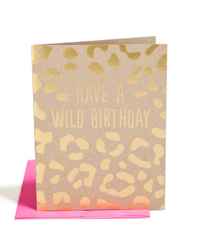 """WILD BIRTHDAY"" Card"