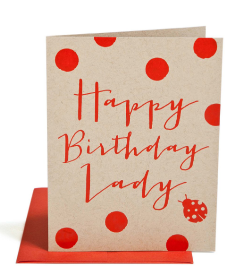 """HAPPY BIRTHDAY LADY"" Card"