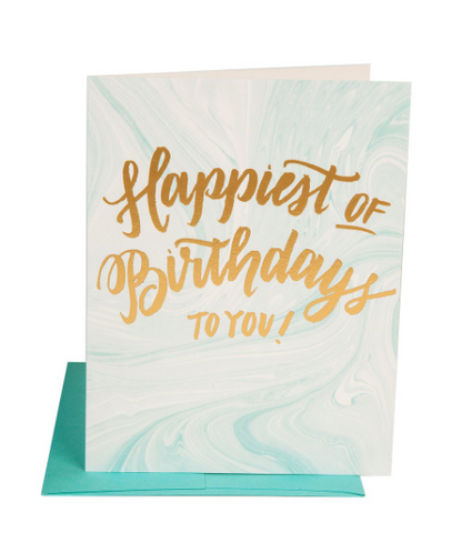 """BIRTHDAY MARBLE"" Card"