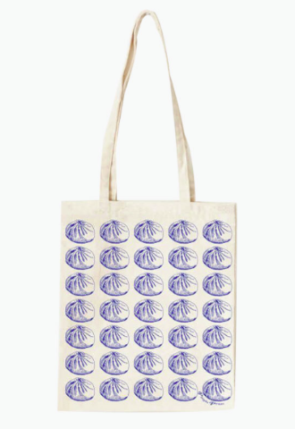Baozi Pattern Canvas Tote Bag