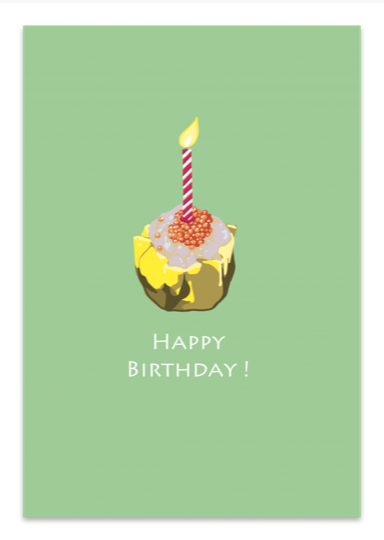 Happy Birthday Siu Mai & Candle Card