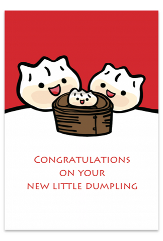 Congratulations on your New Little Dumpling (Red) Card