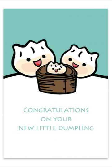 Congratulations on your New Little Dumpling (Aqua) Card