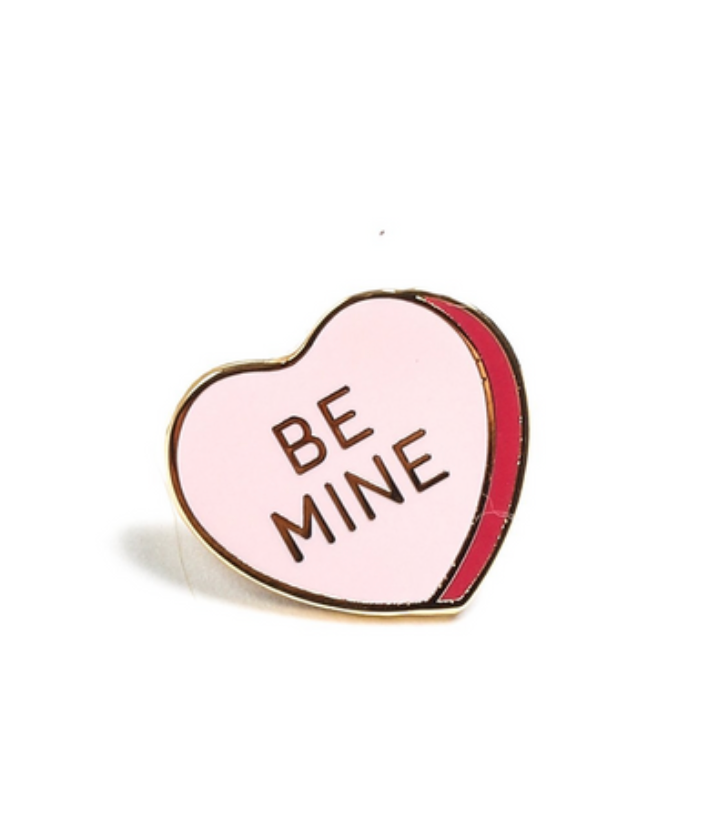 Be Mine Candy Heart  Enamel Pin