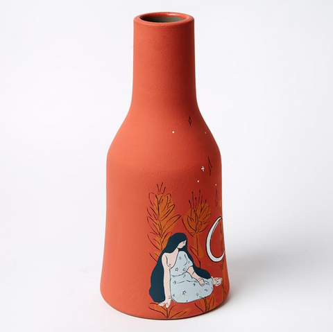 Earth Mama Red Centre Vase