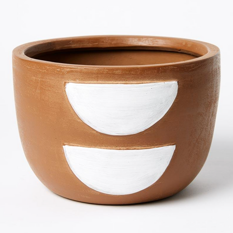 Half Moon Pot (Brown / White)