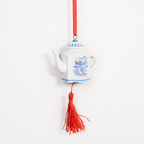 Hanging Decoration: Porcelain Teapot