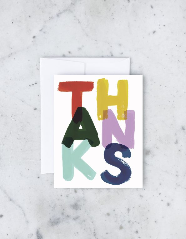 """ Painters Thanks "" Card Greeting Cards - Thorn and Burrow"