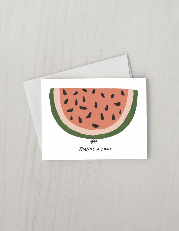 """ Thanks A Ton "" Card Greeting Cards - Thorn and Burrow"