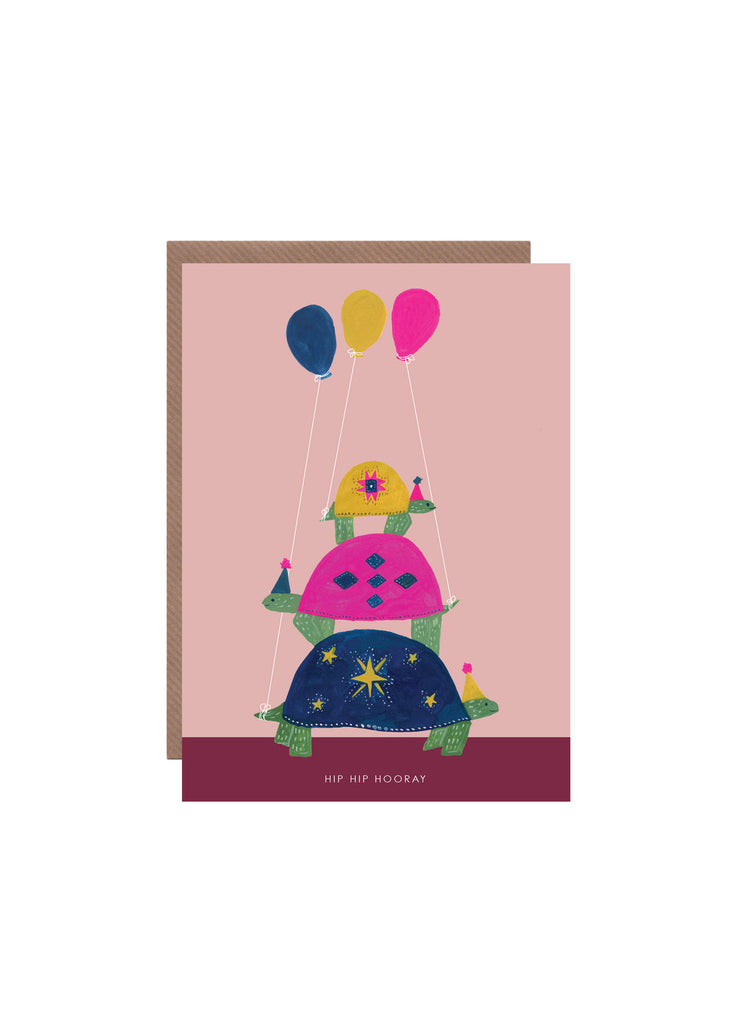""" Tortoise Tower "" Card"