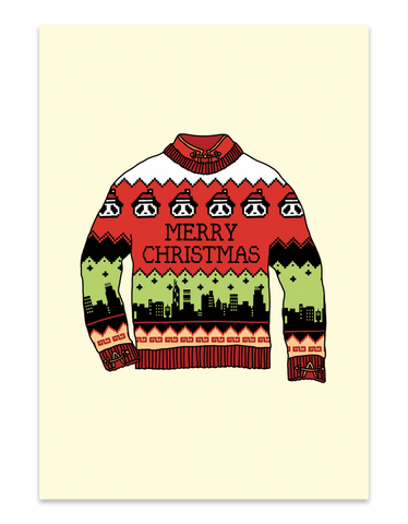 """ Ugly Christmas Sweater "" Pack of 10 - Christmas Card"