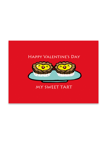 """ Valentine Tarts "" Card Greeting Cards - Thorn and Burrow"