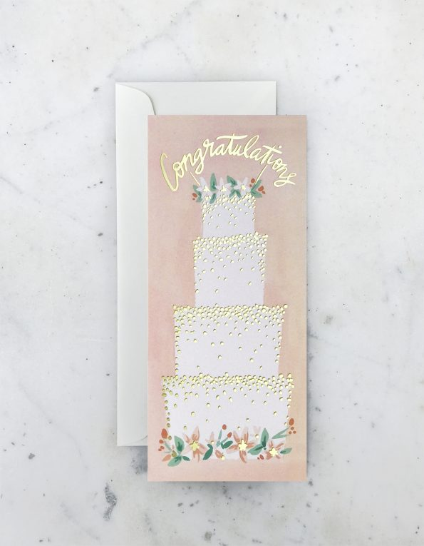 """ Wedding Cake "" Card Greeting Cards - Thorn and Burrow"