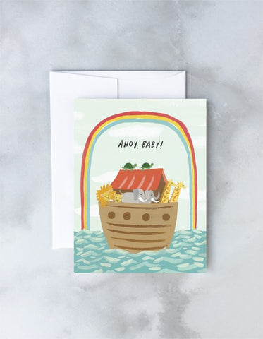 """ Noah's Ark "" Card Greeting Cards - Thorn and Burrow"