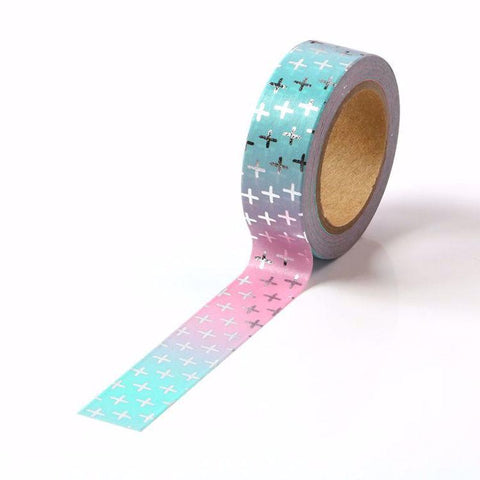 Silver Cords Pink & Blue Gradual Washi Tape