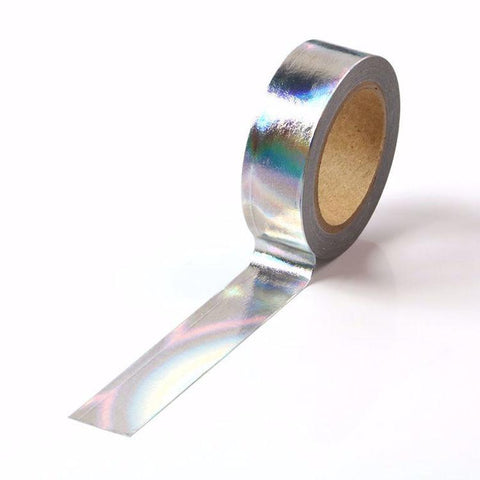 Silver Holographic Foil Washi Tape