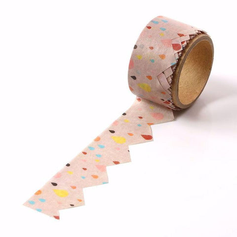 Point Print Die Cut Washi Tape