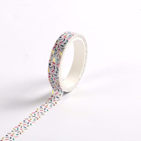 Candy Sprinkles Gold Foil Print Washi Tape