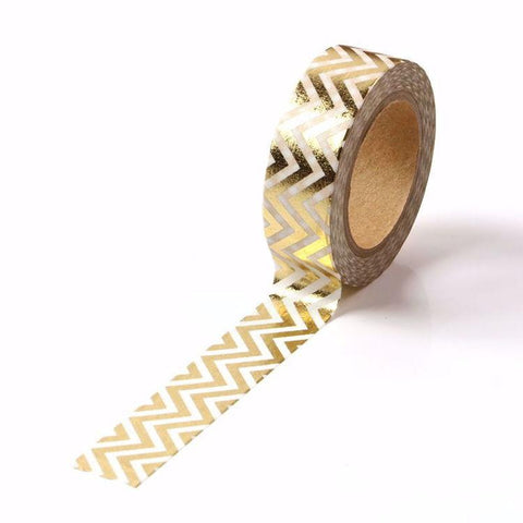 Gold Zigzag Washi Tape
