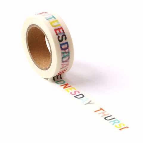 Days of the Week Washi Tape