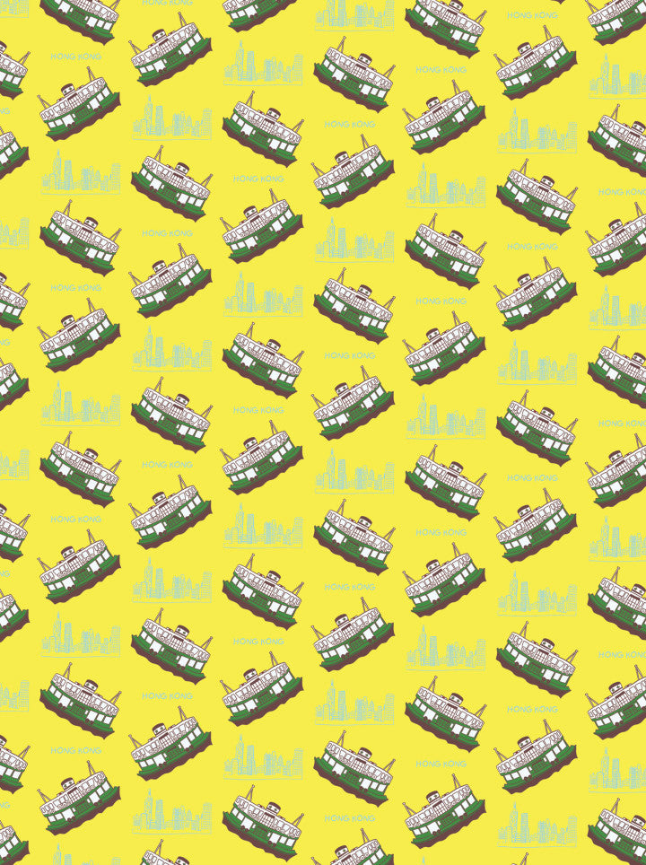 """ Yellow Ferry "" Wrapping Paper wrapping paper - Thorn and Burrow"