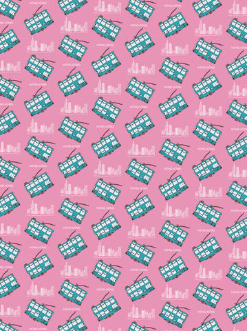""" Pink Tram "" Wrapping Paper wrapping paper - Thorn and Burrow"