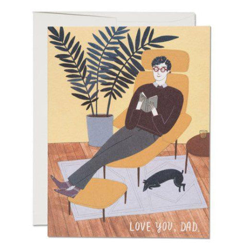 """ Father's Den "" Card Greeting Cards - Thorn and Burrow"
