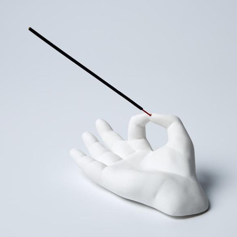 Hand Incense Holder - White