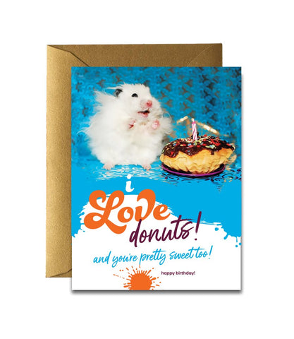 """ Love Donuts "" Card"