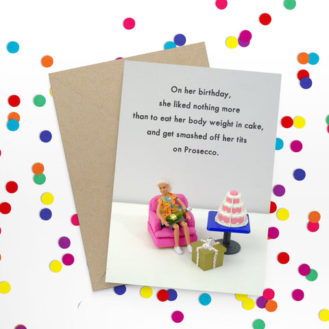 """ Birthday Prosecco "" Greeting Card"