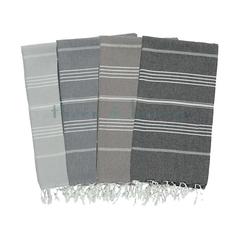 Black & White 100% Cotton Mini Turkish Towel