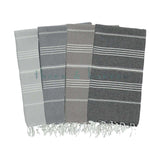 Black & White 100% Cotton Turkish Towel